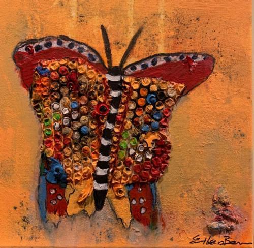 Vlinder-orange