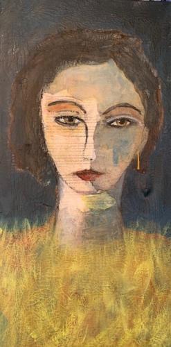 portret tekst in face