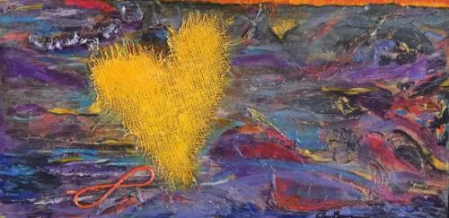 Symbolisch Hart Yellow
